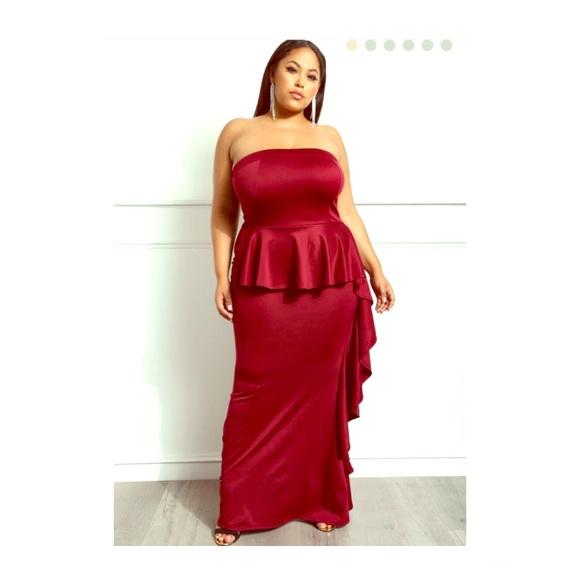 990b0a57e0ad Sexy Plus Size Evening Dress